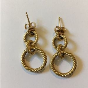 David Yurman 18k Yellow Gold Doorknocker Earrings